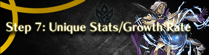 Step 7: Unique Stats and Growth Rate