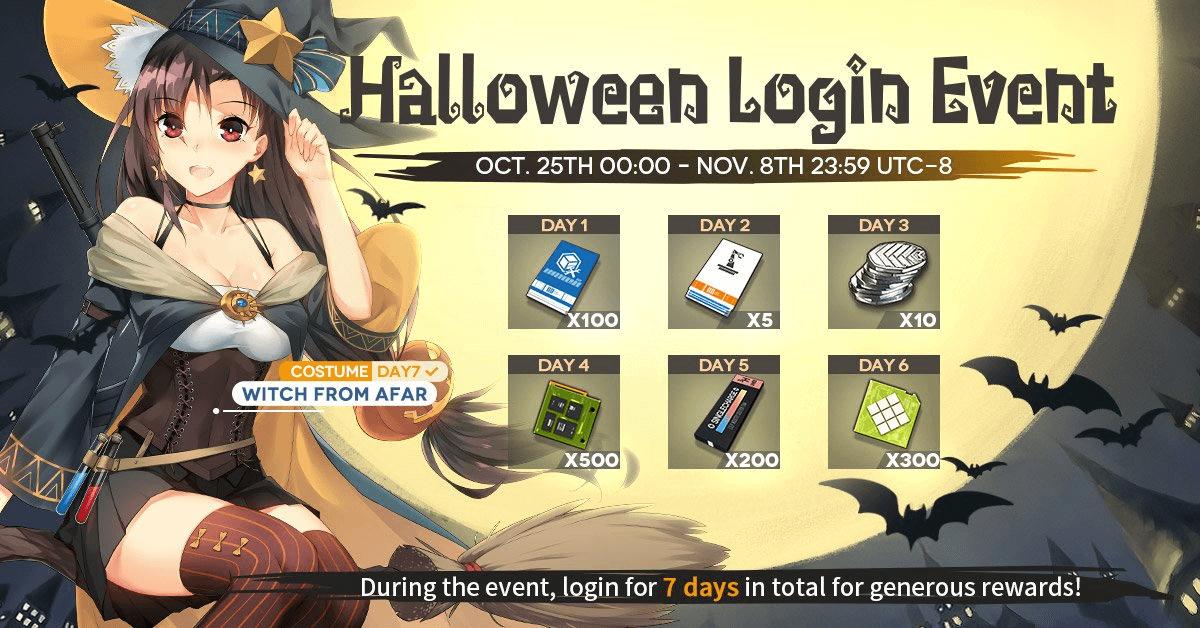 Halloween login event