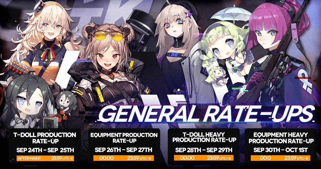 September Rate-Up Schedule Banner