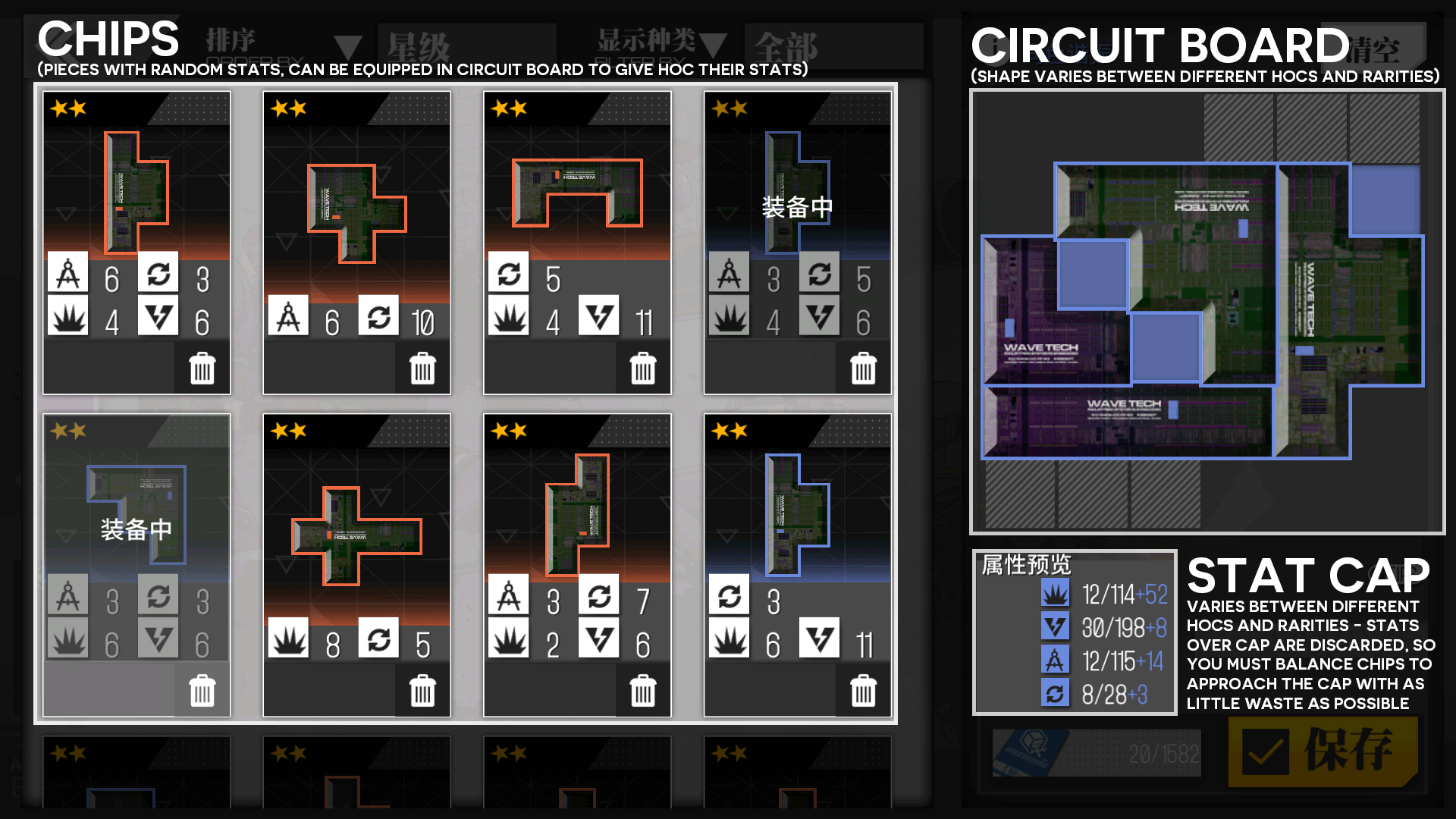 Infographic about HOC tetris and chips/circuit board placement