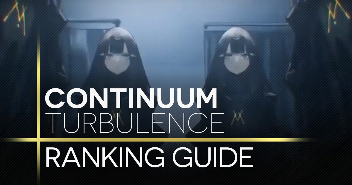 Continuum Turbulence Ranking Guide banner featuring the Black Nytos