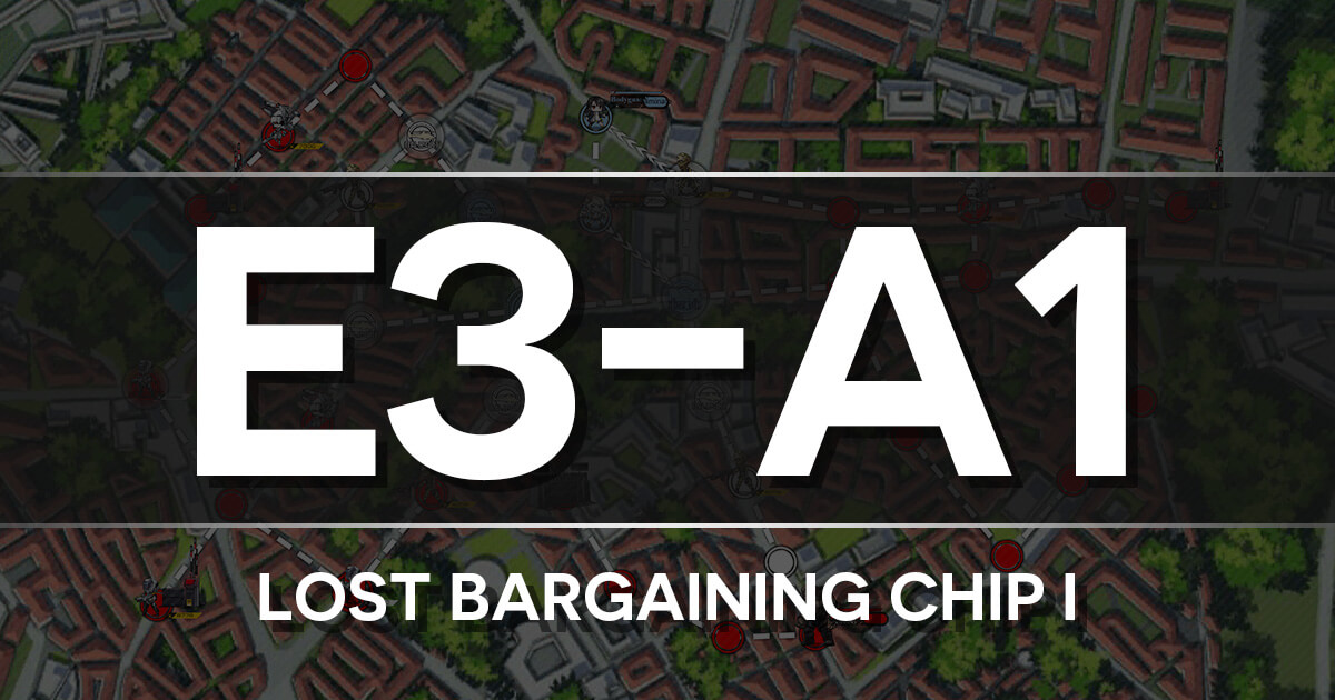 A guide to Isomer Chapter E3-A1: Lost Bargaining Chip I