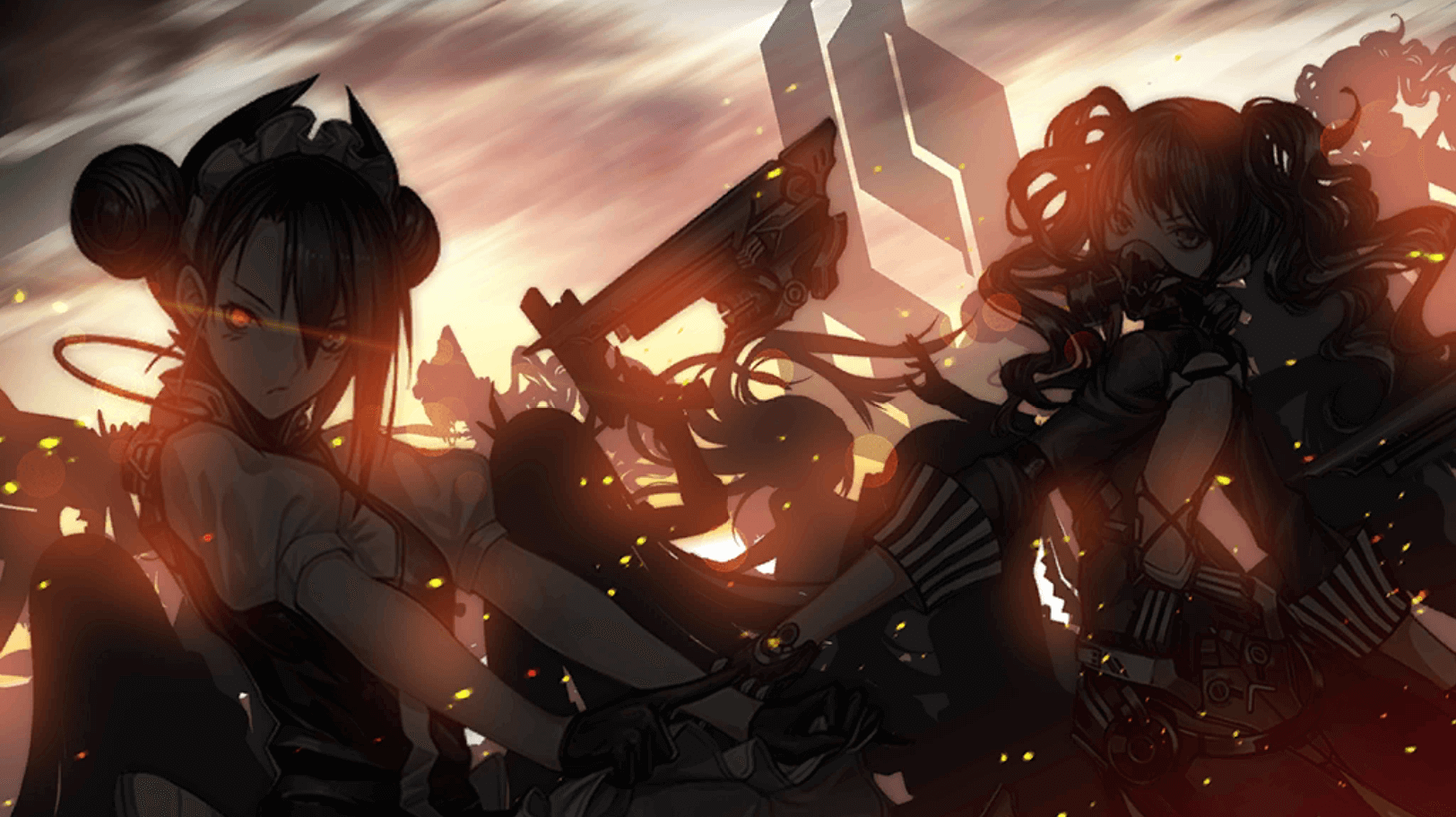 CG image of sangvis ferri ringleaders featuring Agent and Scarecrow