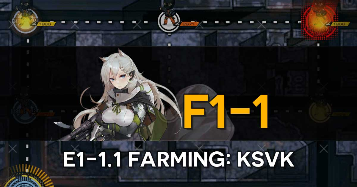"Farming route for the limited T-Doll KSVK in the Girls' Frontline x The Division Collab Event, ""Bounty Feast""."
