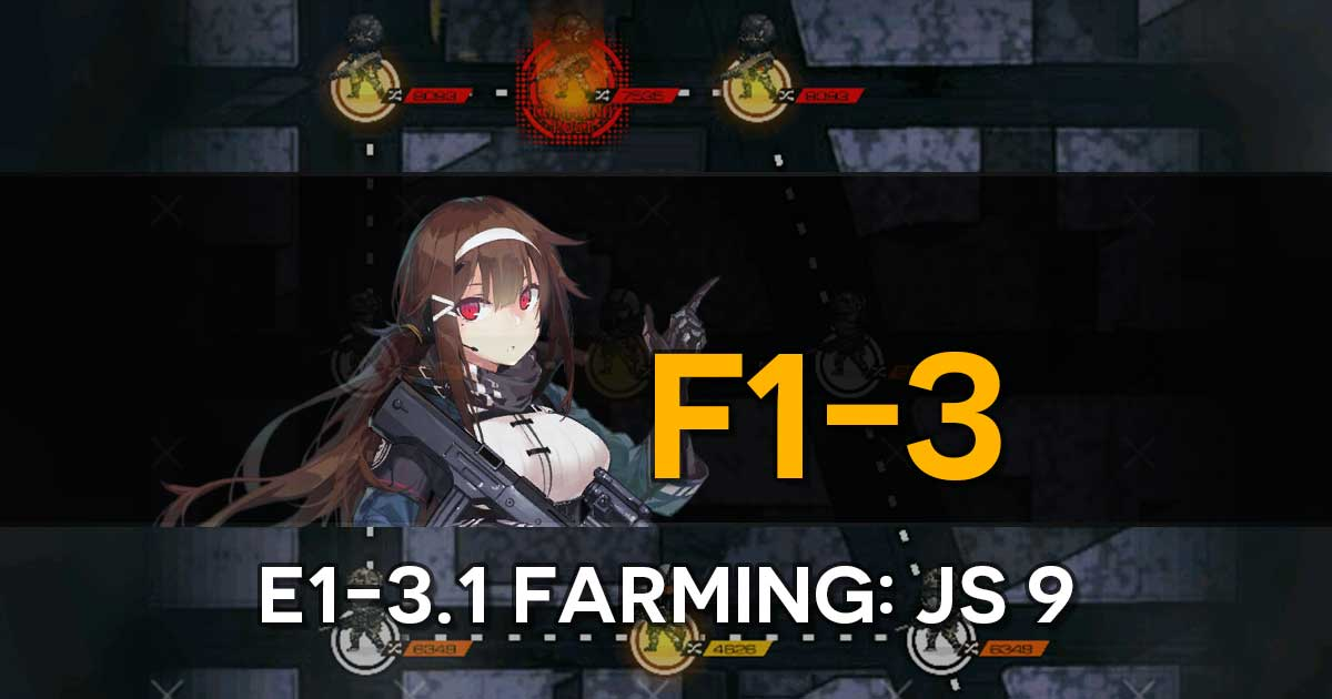 "Farming route for the limited T-Doll JS 9 in the Girls' Frontline x The Division Collab Event, ""Bounty Feast""."