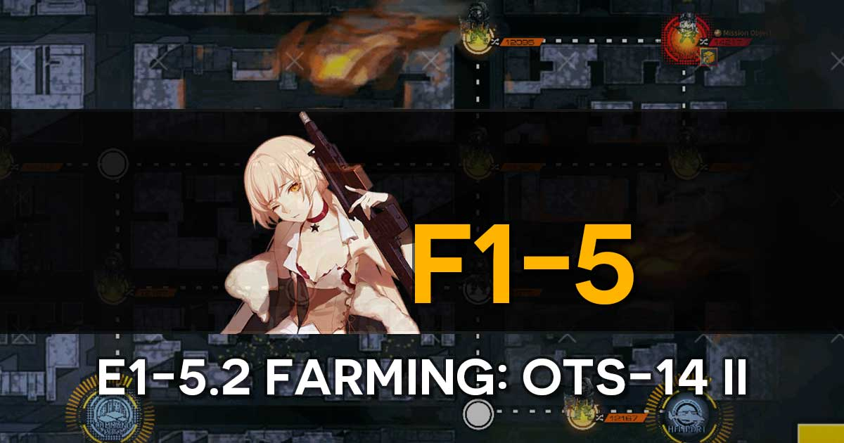 "Farming route for the limited T-Doll OTs-14 'Groza' in the Girls' Frontline x The Division Collab Event, ""Bounty Feast""."