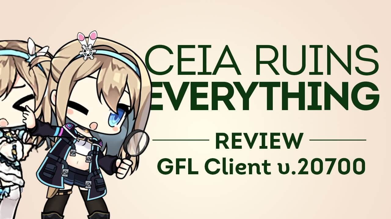 A brief look at Girls' Frontline's new client features for v20700, by GFL YouTuber Ceia.