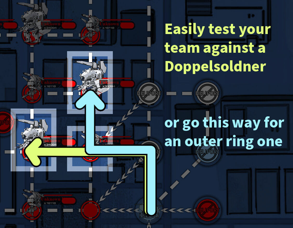 Example routing for field-testing against Doppelsoldners
