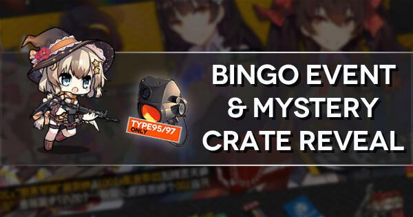 "Bingo Event and Mystery Crate Reveal Banner Image, showing FNC's ""Candy Thief"" chibi and the Type 95/97 Special Equipment"