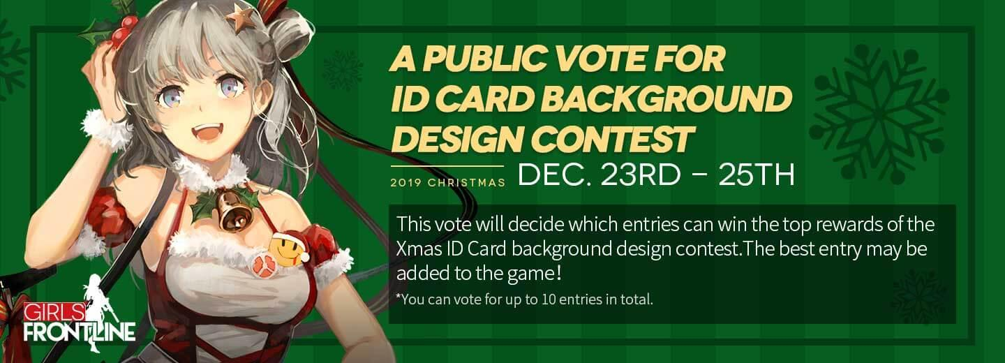In-game banner for the Christmas ID Card Contest Public Vote