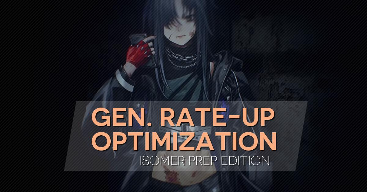 "Main Banner for ""General Rate-Up Optimization: Isomer Edition"" featuring Angelia from the Isomer PV"