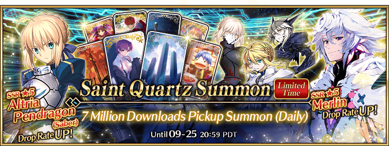 7M Downloads Pickup Summon (Daily)