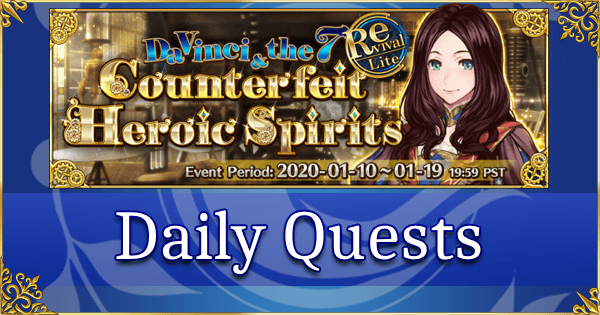 Revival: Da Vinci Event - Daily Quests