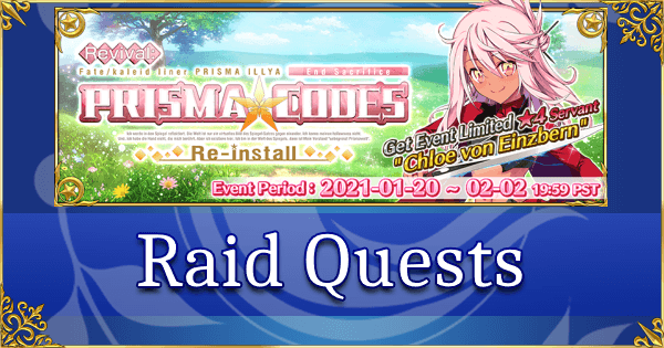 Revival: Prisma Codes - Raid Quests