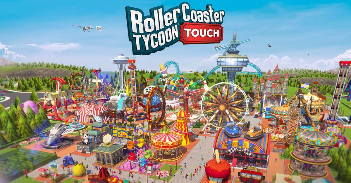 Resultat d'imatges de rollercoaster tycoon touch six flags